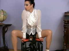 breasty dressed mother I'd like to fuck SEX TEACHER riding sex machine