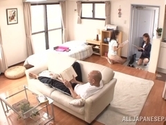 Japanese AV Model is a hot milf in her office suit