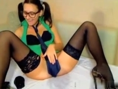 Hot immature with glasses webcam