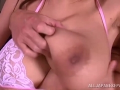 Riai Sakuragi hot Asian milf fets huge hooters fucked