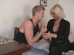 Old golden-haired is doggy-style screwed