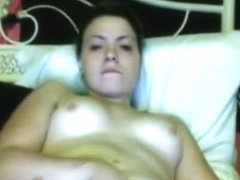 girl sees a dick on omegle, can't resist her hormones and masturbates.
