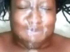 Swarthy big beautiful woman giant dirty pov facial
