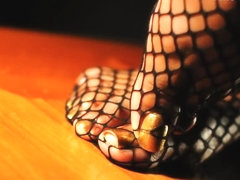Darla TV - Sexy Toe Tease In Fishnet Stockings