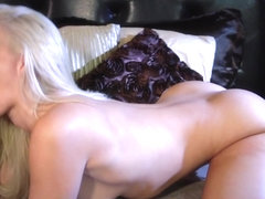 Doggystyle fucked babe gets jizzed on butt