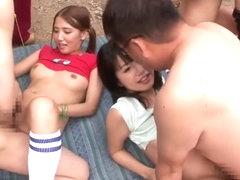 Amazing Japanese sluts Ayaka Tomoda, Hitomi Kitagawa, Kotomi Asakura in Crazy JAV censored Cunnili.