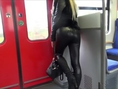 I suck a guy's dong in a bus in my amateur pov video