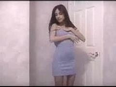 Sexy teen striptease