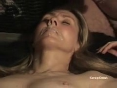 Older wife acquires a cum dump on her face