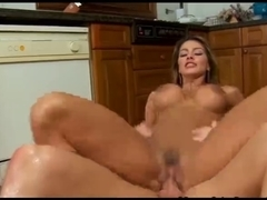 Nasty Spanish Housewife Bonks In The Kitchen