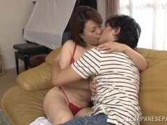 Izumi Takashima hot mature Asian babe gets it doggy style