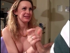 Cute juvenile hairless snatch cutie sucks rod and receives her vagina stretched by large toys
