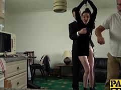 Dirty slut Maddison Rose punished hard with Pascals hard cock