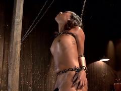 Ebony Slut is Tormented and Machine Fucked!!