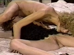 Ribald retro twin sisters in a sexy lesbo act