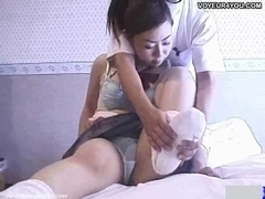 Student Beauty Getting Erotic Body Massage