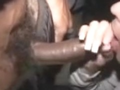 Housewife makes darksome dude cum in her face hole