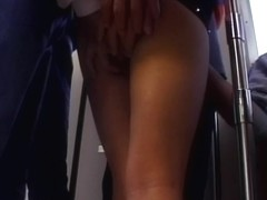 Hot public sex with sexy horny amateur babe in mini skirt
