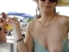 tits in public
