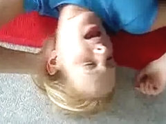 Filthy load on reluctant blond girlfriend