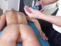 Massaging her pussy before sex
