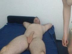 Nerdy College Babe Rides her Boyfriend Cock