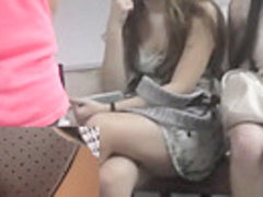 Sexy upskirt video makes happy with intimate view