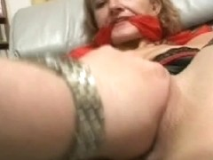Mature sexy lady tied and fucked in naughty porn video