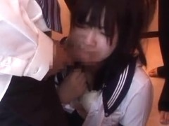 Pretty Japanese teen Ai Uehara in a kinky group action