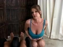 Busty MILFs jerk off cocks in POV handjob videos
