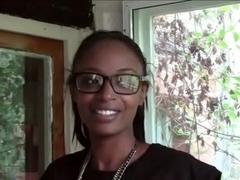 ebony girl belted