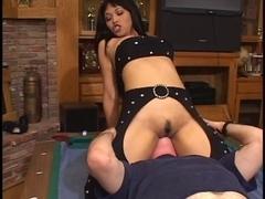 Breathtaking anal oriental in underware receives her taut backdoor screwed by large shlong
