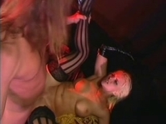 British Wench Hannah Harper screwed in striped hold-ups