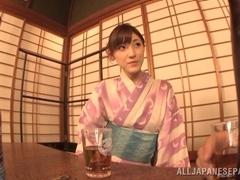 Kanako Iioka amateur hot Asian milf in kimono uses sex toys