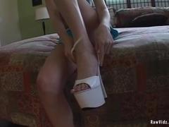 RawVidz Video:  Brunette Hottie Interracial Banging
