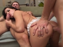 Spanish Nympho Takes Hard Rods In The One And The Other Holes
