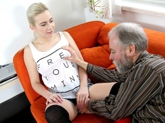 Olga and OldGoesYoung guy fuck in storage unit - OldGoesYoung