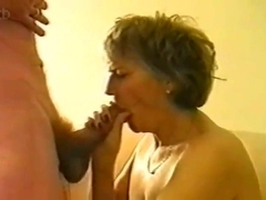 (Collect) Gangbang all holes with blond mature wife
