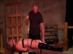 Delightful Blond Taught A Lesson In Obedience