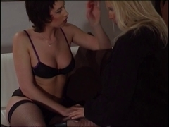 Sexy underware lesbo milfs love fucking every other with toys and belt ons
