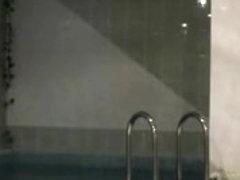 Hidden camera records pair having sex in baths