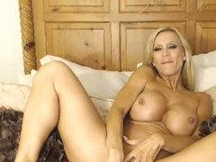 Big Tits MILF Masturbating With A Dildo