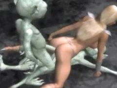 Aliens Group-Sex a 3D Princess!