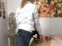 Petite blonde hottie Krisei Luse gets naughty