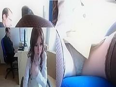 Nice masturbation on hidden webcam