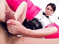 Fabulous Japanese model Rino Asuka in Incredible JAV uncensored Foot Job video