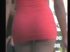 Blonde Skinny in Too Short Miniskirt in Vegas