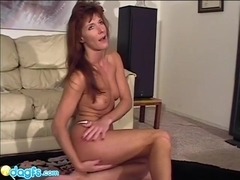 Milf Maria likes wearing a white pantie and playing with her pussy