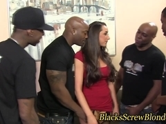 Kaylynn fucks black group