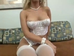 Hot Golden-Haired Toys With Her Cunt Then Toys With A Hard Wang